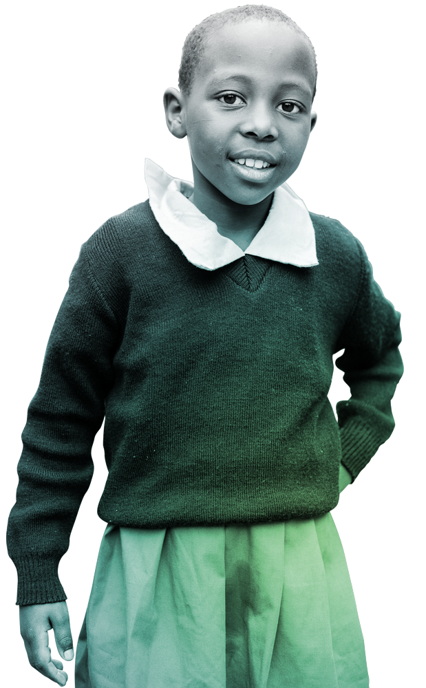Young Kenyan girl wearing school uniform